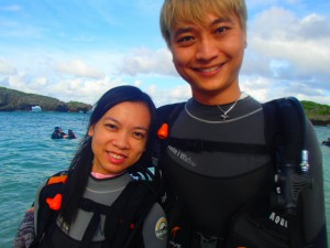 before typhoone comming!! we enjoyed the okinawa ocean!