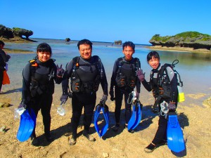 today is warm day !! it was good for diving in Okinawa!