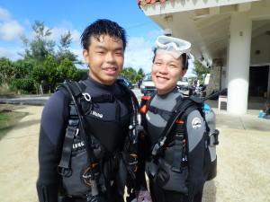 now season for blue cave diving! no any effect of typhoon n…